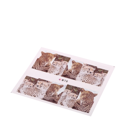 Тонкие Тигр змеиной красочные сексуальный Леопард модель воды таблички передачи наклейки на ногти Нейл-Арт ногтей