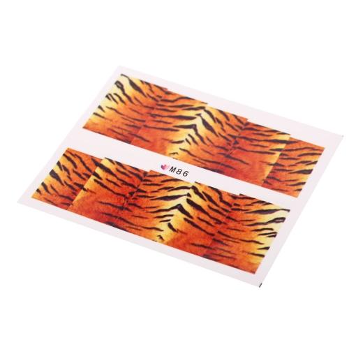 Zarte Tiger Snakeskin bunte Sexy Leopard Muster Wasser Decals Transfer Aufkleber auf Nägel Nail Art Fingernägel
