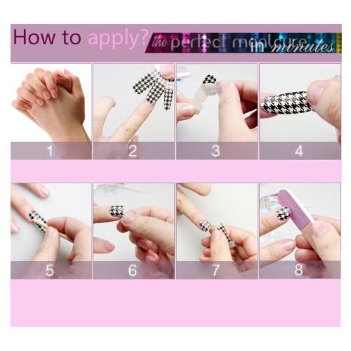 16pcs/paquete de uñas arte pegatinas calcomanía