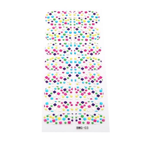 16pcs/Pack Nail Art Sticker Aufkleber Transparent Mädchen DIY 3D Design Strass Eco-friendly