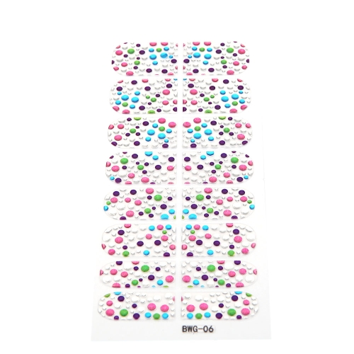 16pcs/Pack Nail Art Sticker Aufkleber Transparent Mädchen DIY 3D Design Strass Eco-friendly