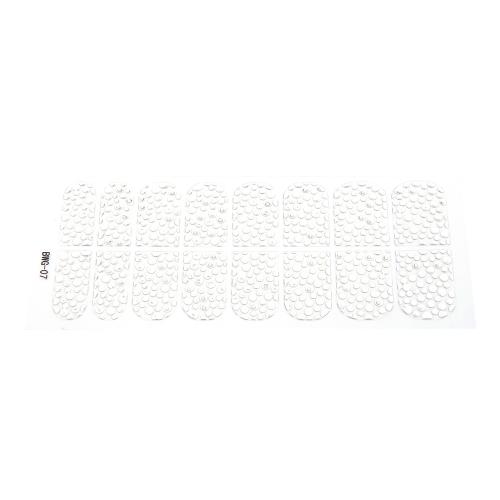 16pcs/pack Nail Art Stickers Decal Transparent Girl DIY 3D Design Rhinestone Eco-friendly
