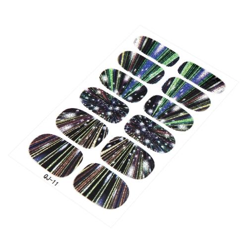 Nail Art Cartoon Mystery Galaxy Water Transfer Minx Love Miss Design Nail Sticker W521-5