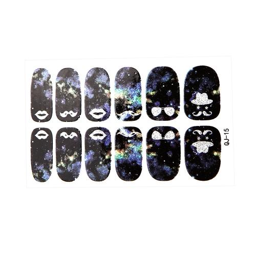 Nail Art Sticker Cartoon Mystery Galaxien Wasser Transfer Nail Sticker Minx liebe Miss Design Nagel Dekoration Folie Decals