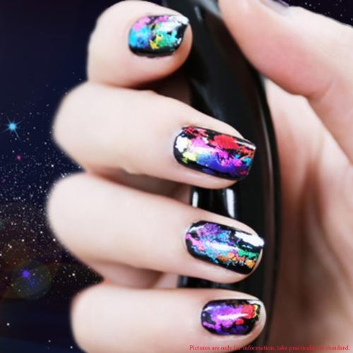 Ногтей наклейка мультфильм тайна галактики воды передачи ногтей дизайн ногтей наклейки Minx любовь Мисс украшения фольга наклейки