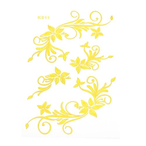 Tätowierung metallisches Gold-Silber-Schmuck inspiriert Flash Tattoos Sticker