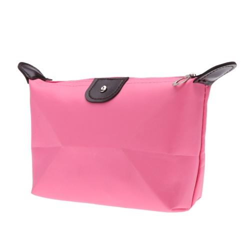 De dobramento saco cosmético grande capacidade feminino caso a caso da composição Nylon cor dos doces