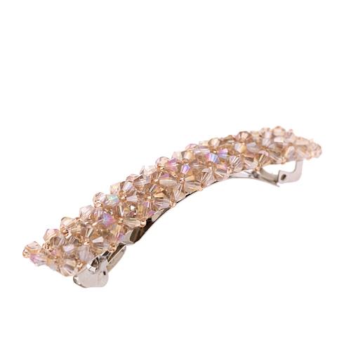 Moda hecha a mano grano cristal horquilla pelo accesorio de la joyería