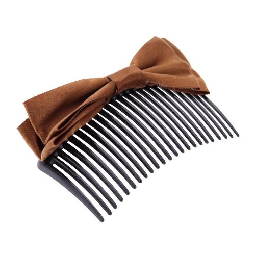 Ручной лентой лук вставлен волосы расческой волосы аксессуар
