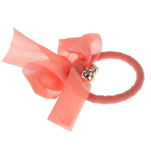 Neue elegante Chiffon elastische Haarband Pearl Bowknot Haar Ring Stirnband Frauen Schmuck Haar Dekoration