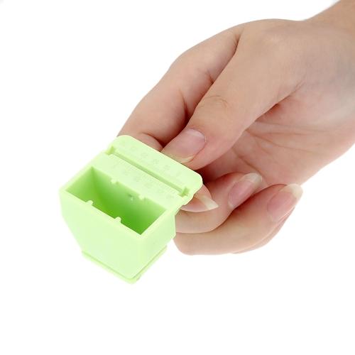 3 цвета палец правитель мера масштаба для корневого канала файл масштаба трубки измерения с Fingerstall Губка