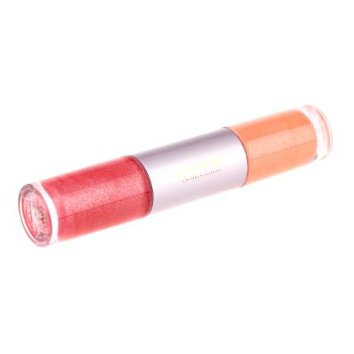 2 в 1 удивительные цвета водонепроницаемый губ блеск витамин помады косметической ручка для женщин
