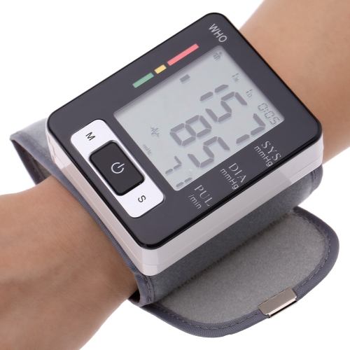 Automatic Digital Wrist Blood Pressure Pulse Monitor Sphygmomanometer Portable Blood Pressure Tester