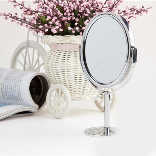 ホット販売ミニ 3 インチ女性少女美を作るを化粧品デュアル側通常拡大楕円形スタンド ミラー
