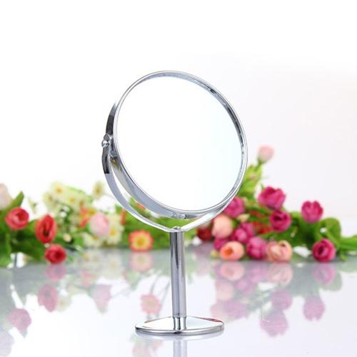 Heißer Verkauf Mini 3 Zoll Lady Mädchen Schönheit machen Up Dual Side Normal Lupe Runde Stand Kosmetikspiegel