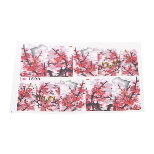 Wasser Transferdruck Schönheit Blumen Design stilvolle Nail Art Sticker Aufkleber Sticker auf Nägeln