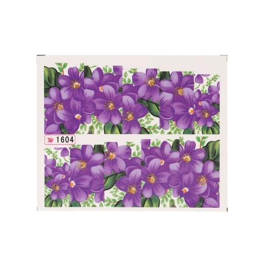 Anself Wasser Transferdruck Schönheit Blumen Design stilvolle Nail Art Sticker Aufkleber Sticker auf Nägeln für Party Hochzeit