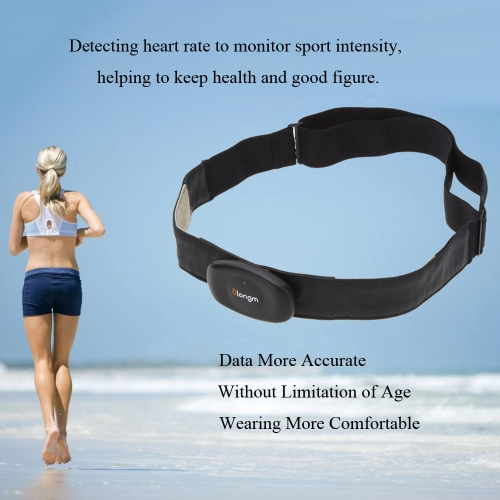 Atongm B2 Bluetooth 4.0 Wireless 5.3KHz Heart Rate Monitor Sensor with Wearable Elastic Chest Belt Strap for iPhone 4S 5 5S 5C iPad 4 Mini Touch 5 Android