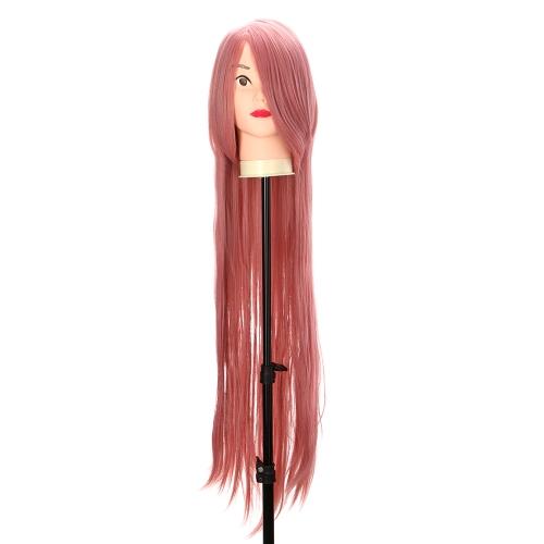 Reines Rosa 1m langen Staight Perücke Anime Charakter Cosplay Bühne Rolle Stirn Fringe
