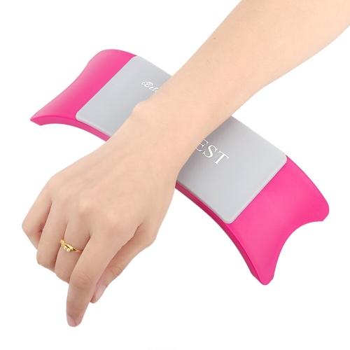 Komfortable Kunststoff & Silikon Kissen Kissen Salon Hand Inhaber Nail Arm Rest Maniküre Zubehör Werkzeugausstattung
