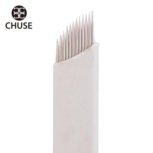 50PCS / Box  CHUSE S14  Disposable Permanent Makeup Eyebrow Blade 14Tattoo Needles Manual Bevel