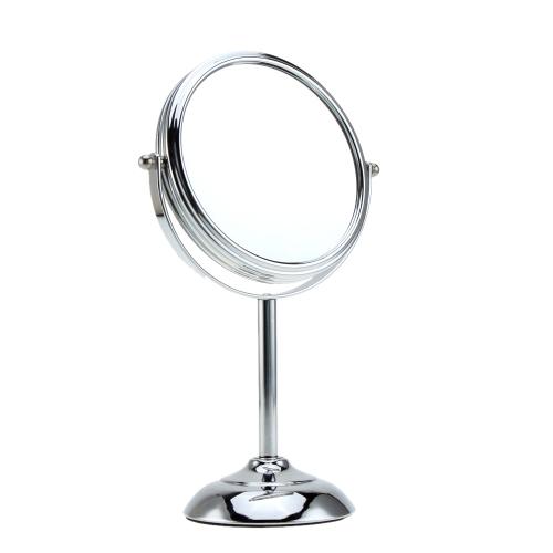 Ampliação de 10 x 6 polegadas forma Circular duplo duplo lado girando maquiagem cosméticos Desk Stand espelho com Base Halfsphere para mulheres meninas Lady