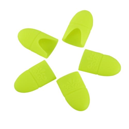 5pcs силиконовый лак для ногтей Remover замочить Off Cap УФ-гель для снятия лака Wrap Клип ногтей Soaker Воскресенский ногтей Очиститель Клип ногтей Nail Art Tool Желтый