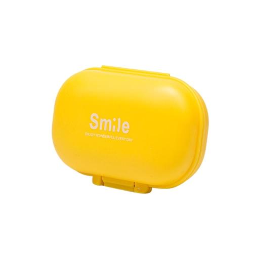 Viagem 4 compartimentos Pill Box Medicina Tablet Titular Organizador Dispenser Caixa de armazenamento portátil