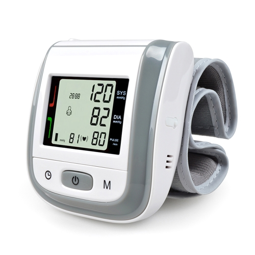 Cuidado de la salud automático digital LCD muñeca monitor de presión arterial
