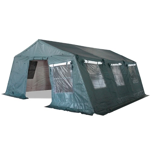 Insulated Tent  Double Sided Camping Shelter Military Style 5x6.24m PVC 750g/m² Adapted for Professionals Daily Needs