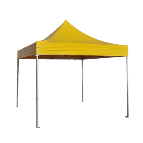Folding Tent PRO Series 50mm Aluminium Structure in PVC 520g/m² Tarpaulin 3x3m for Professional Needs or Daily Use yellow