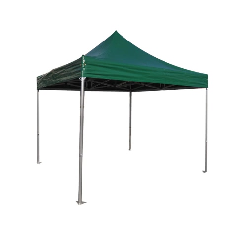 Folding Tent PRO Series 50mm Aluminium Structure in PVC 520g/m² Tarpaulin 3x3m for Professional Needs or Daily Use green