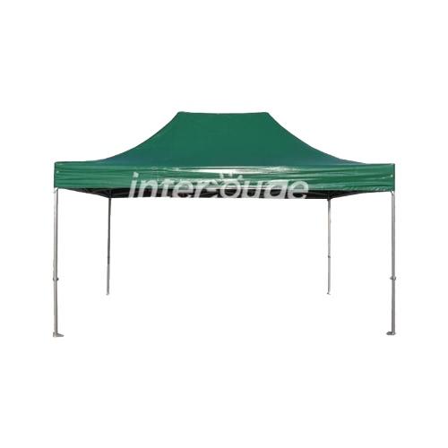 Folding Tent серии PRO 50 мм Алюминиевая структура в ПВХ 520G / м² брезент 3x4.5m для профессиональных потребностей или ежедневного использования Green