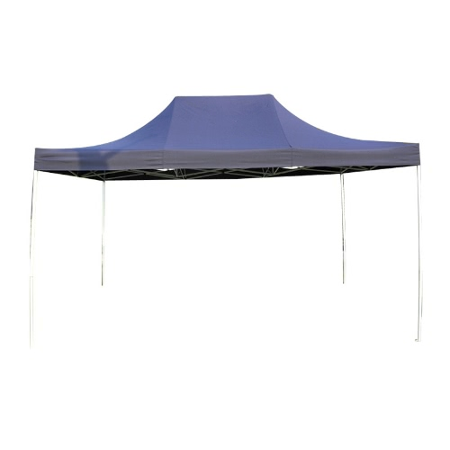 Folding Tent ECON Series 3x4.5m 180g/m² Polyester 30mm Painted Steel Structure with Carry Bag Simple Installation Ideal for Individuals and for Occasional Use Blue