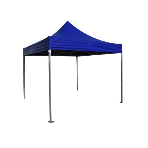 Folding Tent PRO Series 50mm Aluminium Structure in PVC 520g/m² Tarpaulin 3x3m for Professional Needs or Daily Use Blue