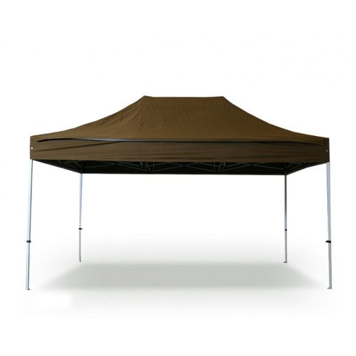 Folding Tent PRO Series 40mm Aluminium Structure Waterproof Tarpaulin in PVC Coated Polyester 300g / m² 3x4.5m Dark Brown