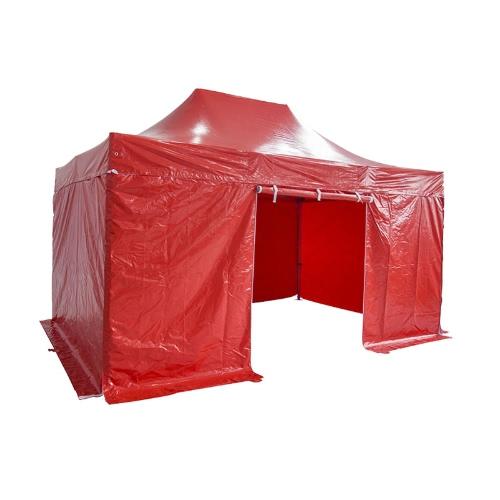 Складная Палатка PRO Структура серии 50мм алюминий + 4 Стороны PVC 520g / m² брезент 3x2m для профессиональных нужд или ежедневного использования Red