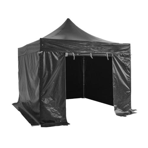 Folding Tent PRO Структура серии 50мм Алюминий + 4 двухсторонним ПВХ 520g / м² брезент 3x3m для профессиональных потребностей или ежедневного использования Black