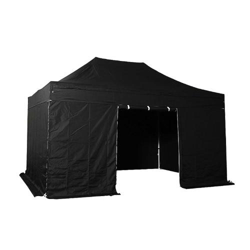 Складная Палатка PLITECH КАЧЕСТВО Складной Marquee Gazebo 40мм алюминиевая конструкция + 4 стороны непромокаемым брезентом в ПВХ покрытием полиэстер 300г / м² 3x4.5m для специалистов и индивидуальных потребностей для регулярного использования Black