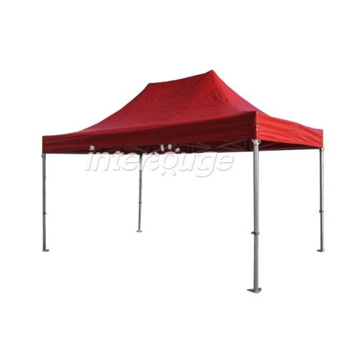 Folding Tent PRO Series 50mm Aluminium Structure in PVC 520g/m² Tarpaulin 3x4.5m  for Professional Needs or Daily Use Red