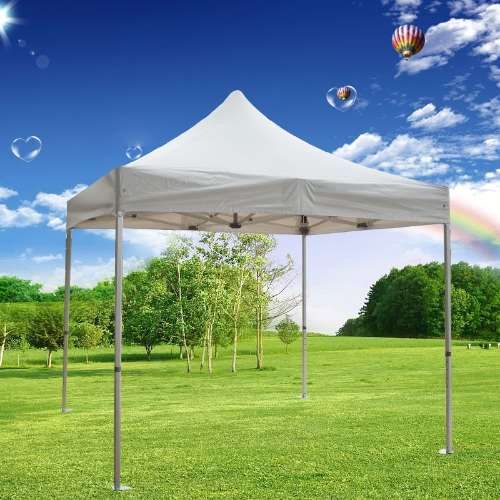 Folding Tent PLITECH STRONG Folding Marquee Gazebo 50mm Aluminium Structure Waterproof Tarpaulin in PVC 520g/m² 3x3m for Professional and Individual Needs for Regular or Intensive Use White