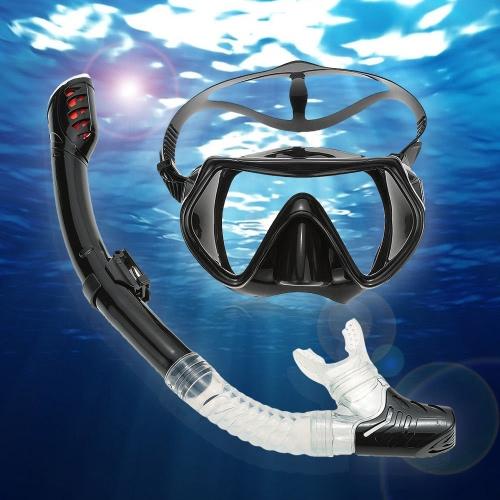 Lixada adulto immersioni Snorkeling nuoto impostare vetro temperato immersioni maschere occhiali + tubo boccaglio completo asciutto