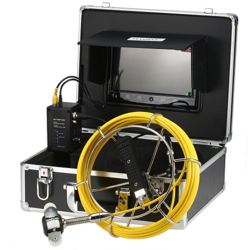 9 Inch 20M/30/40M Pipe Inspection Camera Drain Sewer Pipeline