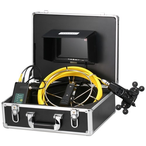7 Inch/9 Inch 20/50M Pipe Inspection Double Camera System