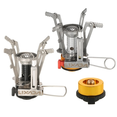 Lixada 2 Pack Camping Piezo Ignition Gas Stove