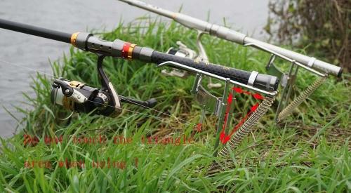 Automatic Double Spring Angle Pole Fish Pole Bracket Standard Fishing Rod Holder 453g Image