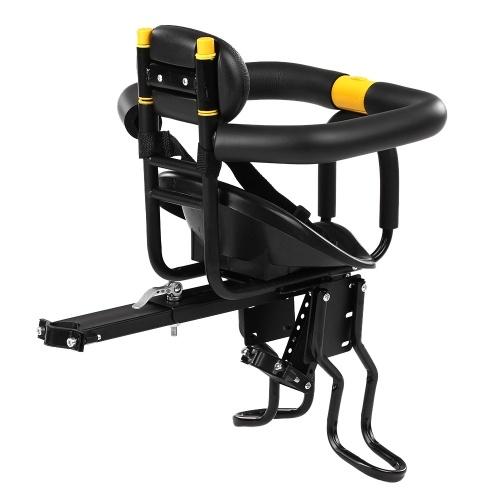 Sicherheit Kindersitze Fahrrad Fahrrad vorne Babysitze Kindersattel mit Fußpedalen Unterstützung Rückenlehne für MTB Rennrad Fahrrad