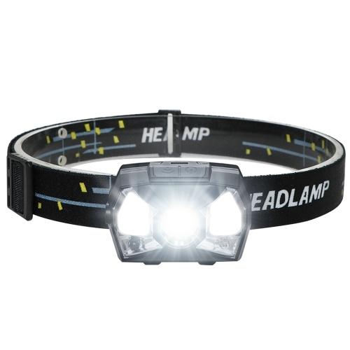 Farol LED recarregável farol de indução de luz forte