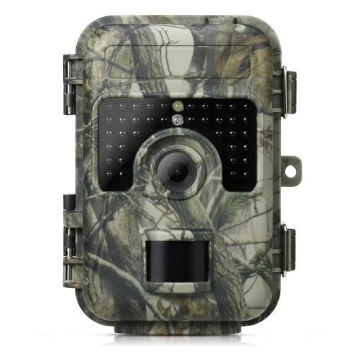 Câmera de caça de trilha 16MP 1080P Câmera de caça ao ar livre para acampamento e observação de animais selvagens