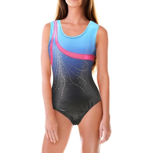 Girls Dance Bodysuit Girls Gymnastics Compressed Sleeveless Bodysuit Pull On Ballet Outfit